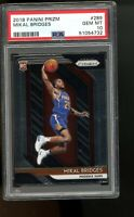 2018 Panini Prizm #289 Mikal Bridges Phoenix Suns RC Rookie Card PSA 10 GEM MINT