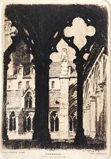 Tréguier Côtes-d'Armor Bretagne pointe sèche de Charles Jaffeux (1902-1940)