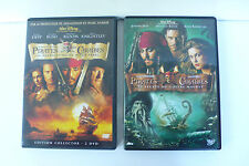 2 DVD   PIRATES DES CARAIBES  BLACK PEARL / COFFRE MAUDIT  WALT DISNEY