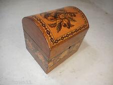 Antique Rosewood Tunbridge Ware Tea Caddy , rare Pattern     , ref 2348