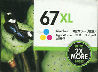 HP 67XL Tri-colour Ink cartridge NEW Envy 6020 Pro 6420