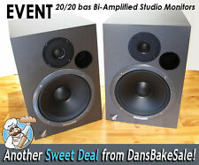 Event 20/20 bas Bi-Amp Studio Speakers Monitors Pair in Excellent Condition!