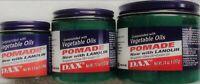 Dax Vegetable Oils Pomade with Lanolin Bergamot Olive Castor Oil 100 213 397G