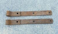 "Primitive Antique Hand Forged Barn Door Strap Hinge Gate Iron 14"" Long 1.5"" Wide"