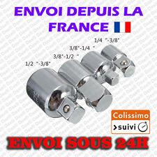 """Lot de 4 - Adaptateurs pour douilles Augmentateur / Réducteur 1/2"""" 1/4"""" 3/8"""""""