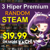 3 x Random HIPER Premium Steam Game Key (+$19.99 each) ✅ REGION FREE 01