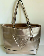 NEW! GUESS BALDWIN PARK ROSE GOLD LARGE SHOPPER SATCHEL TOTE BAG PURSE SALE