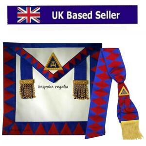 Lambskin Leather Masonic Royal Arch Provincial  Apron & Sash RA Chapter Regalia