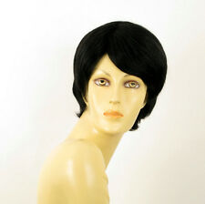 wig for women 100% natural hair black ref CECILE 1B PERUK