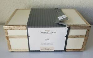 "Threshold Studio McGee 8"" x 5"" Wood Edge Trim with Resin Inlay Decorative Box"