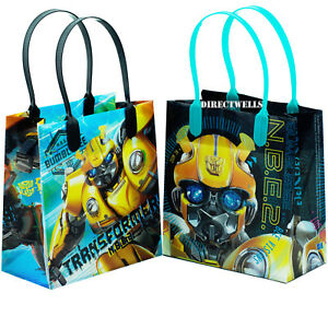 Transformers Bumblebee Reusable Small Party Favor Goodie Gift 6 Bags