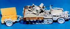 Milicast G179 1/76 Resin WWII SdKfz 10/5 20mm Flak38 Htrack & Trailer/Mesh Sides