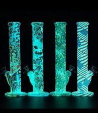 Glow In The Dark Silicone Bongs Vase Hookah Shisha Smoking Water Pipe
