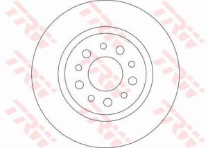 TRW Brake Rotor Pair Rear DF4440S fits Alfa Romeo GT 2.0 JTS (937), 3.2 GTA (...