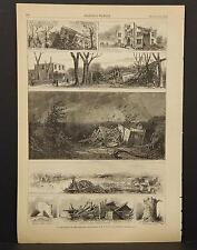 Harper's Weekly Single Page B1#62 Aug 1878 In the Track of the Tornado