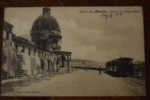 Ak Saluti da Messina, Grotta e riviera. Faro, 1906 gelaufen