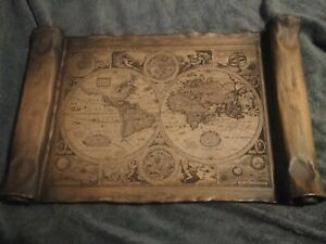 Vintage, Reproduction, 16th C. Map of the World- Artwork Wall Decor 23in x 15in
