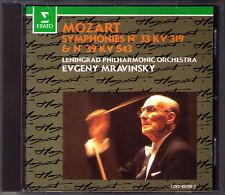 Evgeny MRAVINSKY: MOZART Symphony No.33 & 39 Leningrad Philharmonic CD Sinfonien