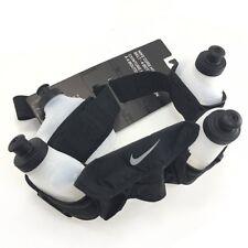 NIKE Lightweight Running Hydration Belt Include 4 Bottles , Black x White