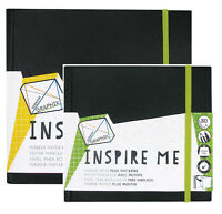Derwent INSPIRE ME Sketch Books Bleedproof Marker Paper Pad with Geometric Grid