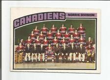 1976-77 OPC #141 MONTREAL CANADIENS TEAM CHECKLIST O-PEE-CHEE