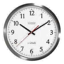 """404-1235UA-SS La Crosse Technology 14"""" UltrAtomic Stainless Analog Wall Clock"""
