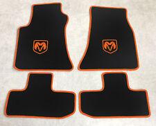 Autoteppich Fußmatten für Dodge Challenger ab Bj.2008 Velours orange 4tlg. Neu