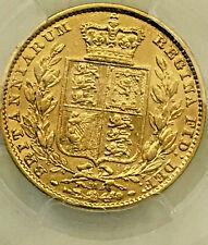 "*AUSTRALIA 1880 M GOLD SOVEREIGN "" RARE SHIELD "" PCGS aUNC...RARE in this GRADE"