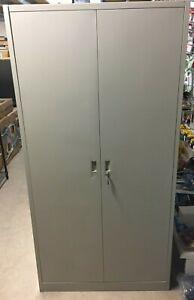 Metal Double Door Office Filing Cabinet 5 Layers Steel File Storage Cupboard