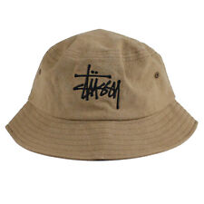 Stussy Mens - Big Logo Canvas Bucket Hat - Brown