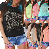 Sexy Women Clubbing Blouse platelets Top Ladies Party Shirt Girls Size 6 8 10 12