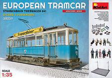 MiniArt Models 1/35 European Tramcar (StraBenbahn Triebwagen 641) w/Figures