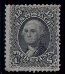 US #69 12¢ black, unused regummed, strong color, Scott for no gum $675.00