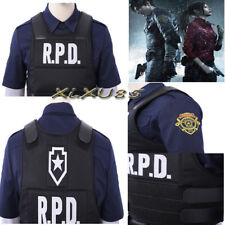 Resident Evil 2 Remake Biohazard Leon Blue Shirt +Vest Cosplay Costume Customize