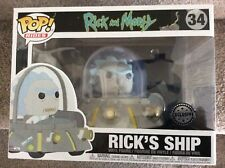 Funko Pop Vinyl Figure - RICK'S SHIP - Pop Ride - EXCLUSIVE Rick and Morty - NEW