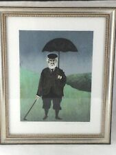 GUY BUFFET Signed Lithograph Rainy Day in Scotland 100/500 Golf Framed Art Print