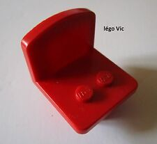 Lego Fabuland 4222 Chaise Chair Red Rouge du 4167 3647 3663 3675 3636 ...