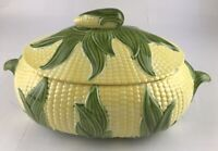 Vintage Corn Casserole Dish With Lid Corn On The Cob Green yellow Summer