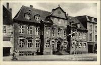 Horsens Jütland alte AK 1944 Straßenpartie an Jorgensens Hotel Eingang Personen