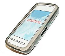 Silikon TPU Handy Hülle Cover Case Schale Schutz in Smoke für Nokia 5230