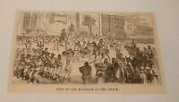 1879 magazine engraving ~ MARRIAGE OF THE PRINCE ~ Egypt