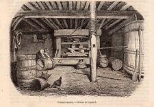 PRESSOIR ANCIEN VIN IMAGE 1860 PRINT