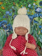 PRINTED INSTRUCTIONS-BABY BIG BOBBLE FAST TRAPPER HAT KNITTING PATTERN