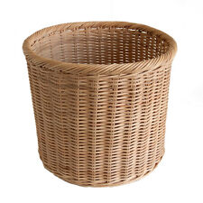 Round Simple Wicker Waste Paper Basket Bin or Storage Basket