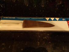 """Lot of 4 New Adcraft Advantage Series Cut-8Ckwh 8"""" White Handle Cook's Knife"""