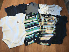 Old Navy and Baby Gap lot of eight 8 short sleeve body suits 0-3 months