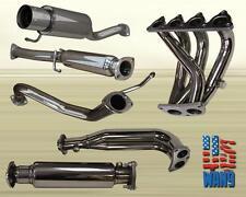 For 96-00 Civic Hatchback 3Dr Full Exhaust Header+ Test Pipe+ Catback Muffler
