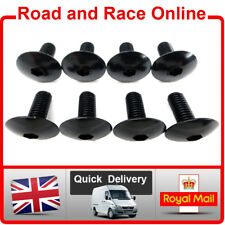 Fairing Screws Allen Head Fairing Bolts Fixings 6mm x 15mm Black Aluminium x 8