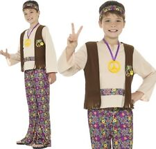 Childs Boys 60s 1960s Hippy Fancy Dress Costume Hippie Outfit by Smiffys New