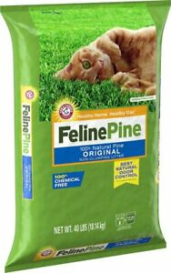 Feline Natural Pine Original Cat Litter 40lb Pet Kitty Odor Control Absorbent